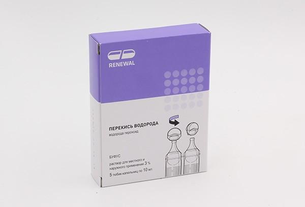 Перекись водорода 3% р-р 10мл 5 тюб-кап /RENEWAL/