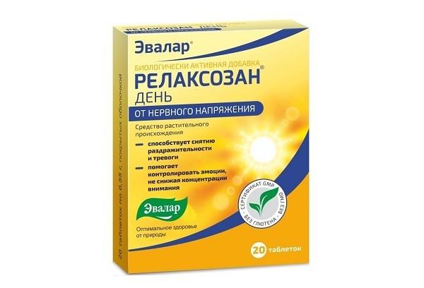 Релаксозан тбл п/об 20 БАД Эвалар