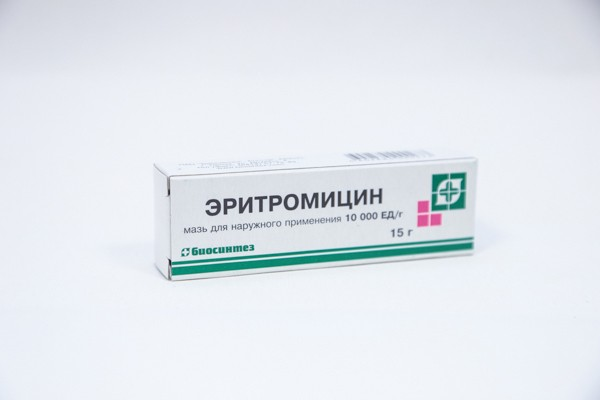 Эритромициновая 10тыс ЕД/г мазь д/наруж прим 15г