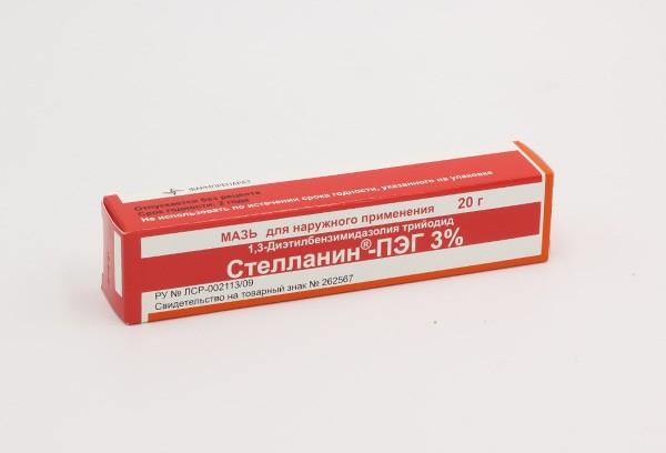 Стелланин-ПЭГ 3%  мазь 20г